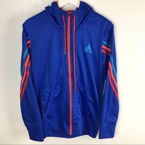 RARE MINT adidas Track Hoodie Jacket NEON stripes